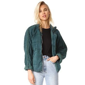 Free People Quilted Dolman Jacket